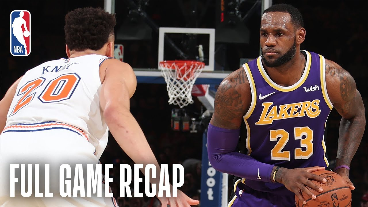 LAKERS vs KNICKS | New York Goes On Epic Run In The 4th Quarter | March 17, 2019