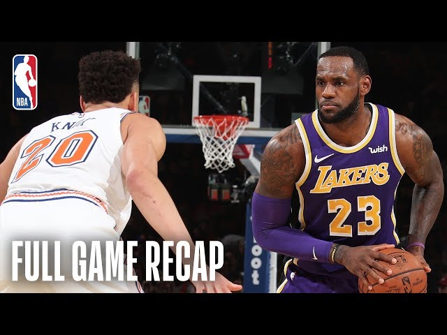 LAKERS vs KNICKS   New York Goes On Epic Run In The 4th Quarter   March 17, 2019