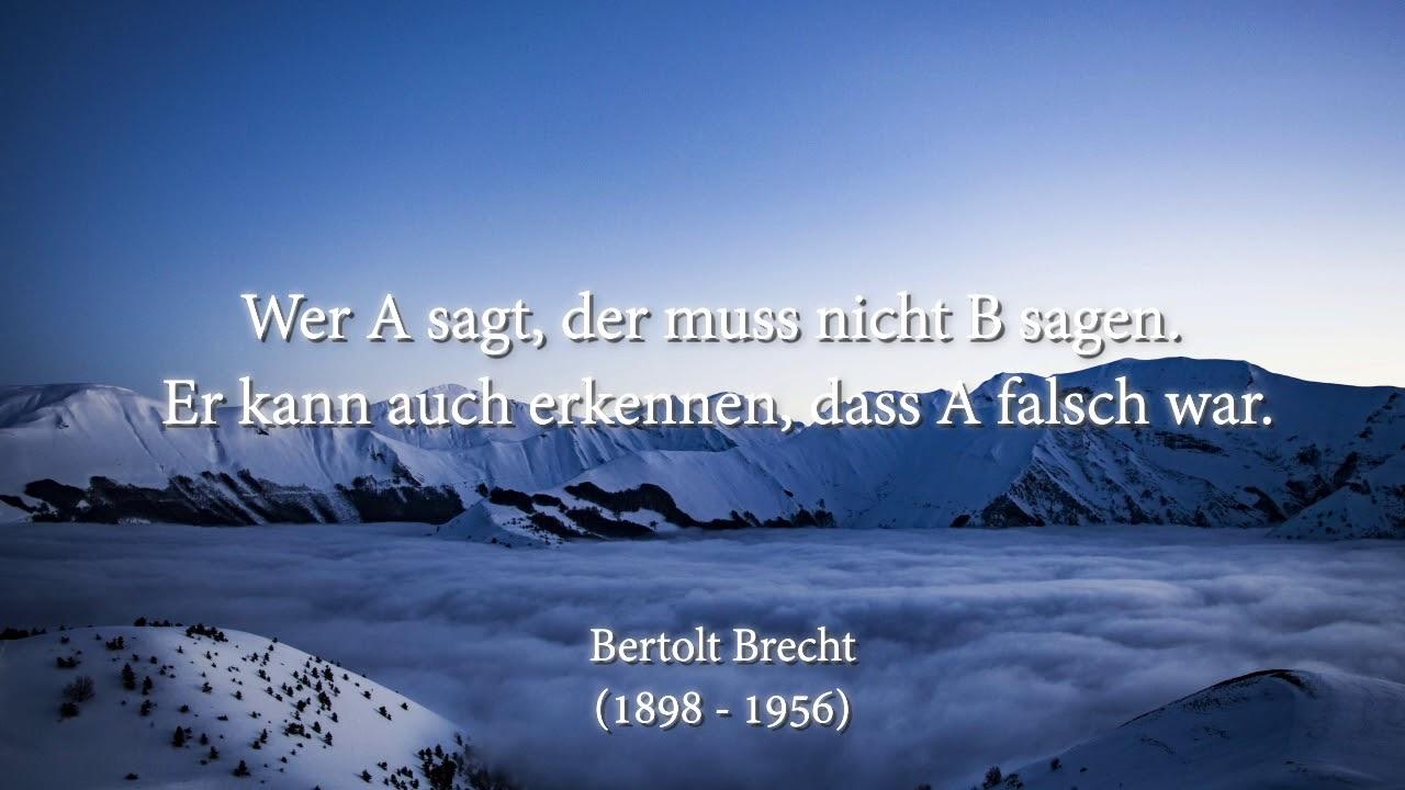 Bertolt Brecht Zitate Youtube