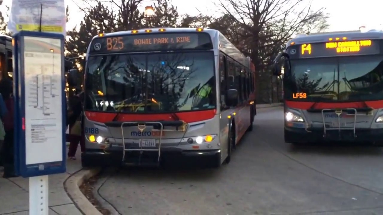 wmata new flyer d40lfr #6188 on route b25 and new flyer xde40 #7005