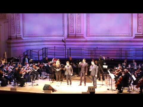 Forte Tenors and Cami Bradley sang 'THE PRAYER' Carnegie Hall 11/16