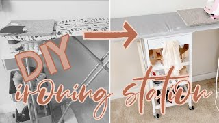 DIY Ironing Board and Storage Cart