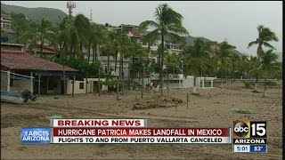 Hurricane Patricia makes landfall in Mexico