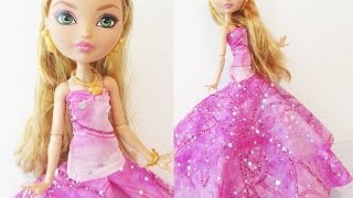 How To Make A Doll Ball Gown