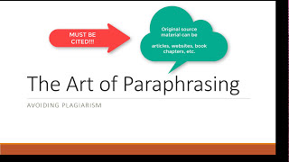 The Art of Paraphrasing: Avoiding Plagiarism
