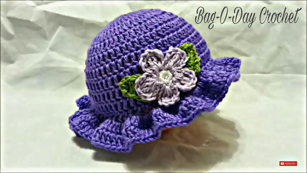 Crochet Tutorial Hat : CROCHET How to #Crochet Easy Ladies Spring time Hat #TUTORIAL #199 ...
