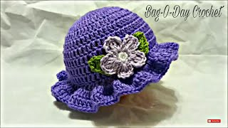 CROCHET How to #Crochet Easy Ladies Spring time Hat #TUTORIAL #199 LEARN CROCHET