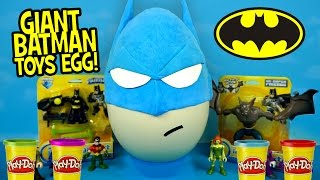 Batman Toys Play-Doh Surprise Egg with Imaginext Batman Toys | Surprise Egg Video by KidCity
