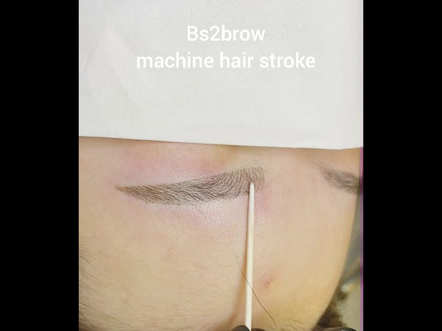 Natural semi-permanent eyebrow tattoo of Korea