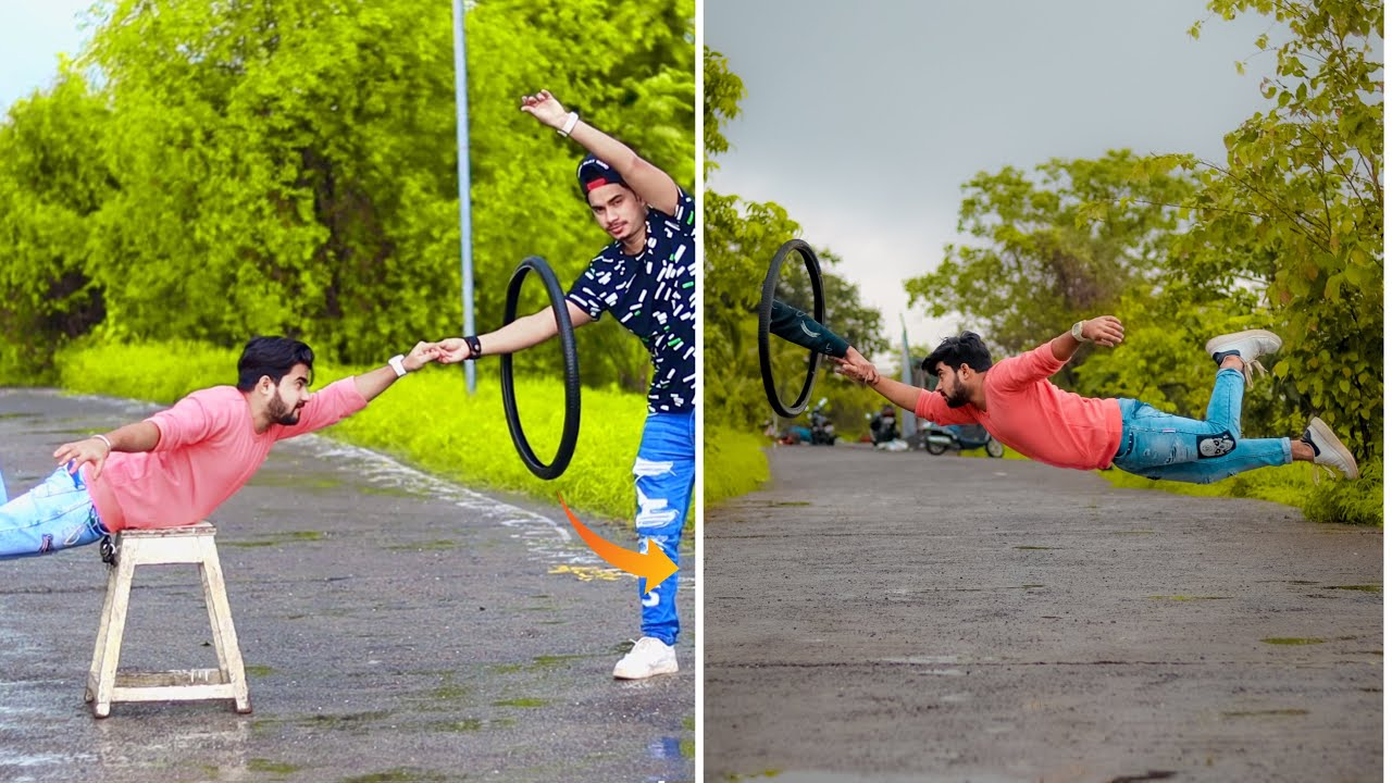 Amazing Phone Photography Ideas With Cycle Tyre 🔥 #shorts
