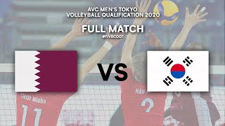 QAT vs. KOR - Full Match | AVC Men's Tokyo Volleyball Qualification 2020