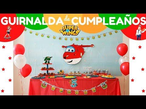 Guirnalda de cumplea os super wings como decorar fiesta - Ideas para decorar cumpleanos infantiles ...