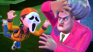 Scary Teacher 3D - Nick Ghost Troll Miss T and Francis - BuzzStar Animation