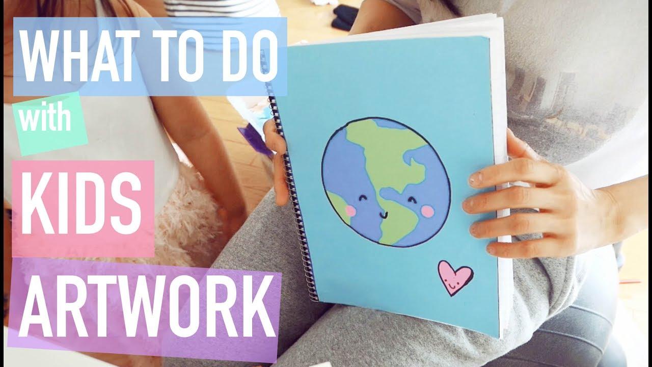 Kawaii Diy Diy Scrapbook Tutorial For Kid S Artwork Quick Simple