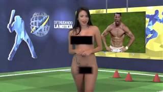 Canlı yayında Ronaldo için soyundu +18 seksi qiz