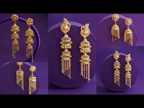 Download Latest Gold Jhumka Designs Gold Earrings Jhumka Designs Earrings for Women/girls 2020-21