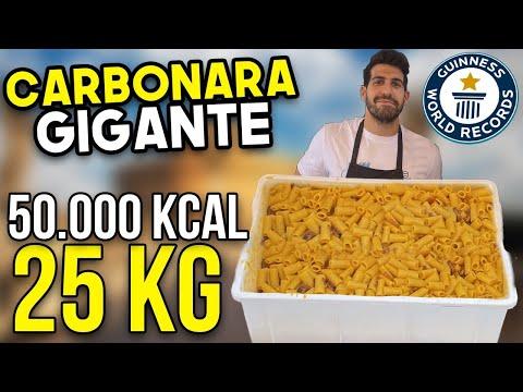 HO CUCINATO UNA CARBONARA DA 25 KG - 50 MILA KCAL