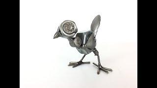 HOW TO BUILD A LITTLE BIRD SCULPTURE FROM WELDING RECYCLED SCRAP METAL