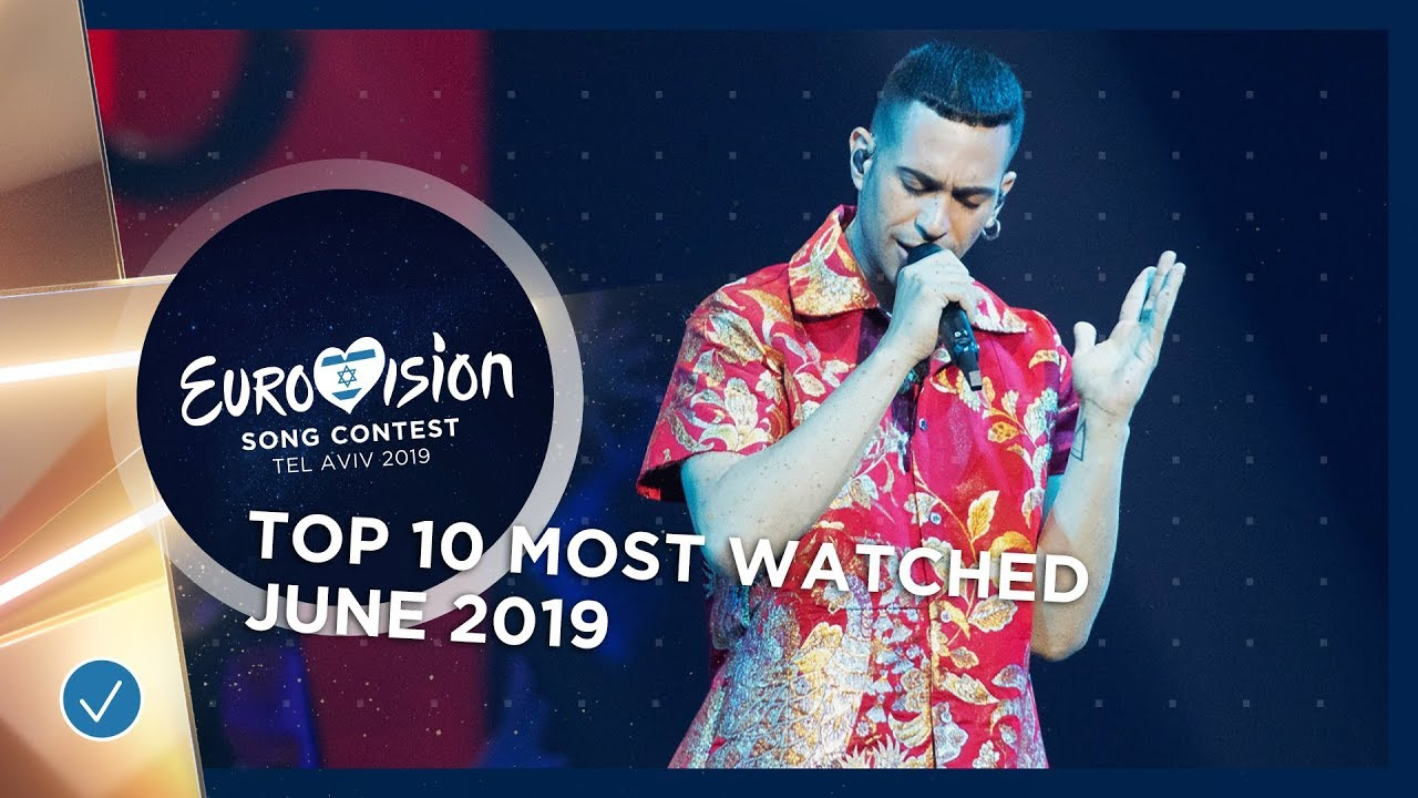 Top 10 Most Watched In June 2019 Eurovision Song Contest