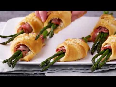 Asparagus and Ham Crescent Bundles | Pillsbury Recipe