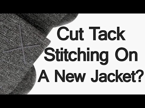 Should You Cut Pocket Stitching On A New Suit Jacket? | Purpose of Tack Stitching Suits
