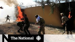 Violent demonstrations at U.S. Embassy in Iraq