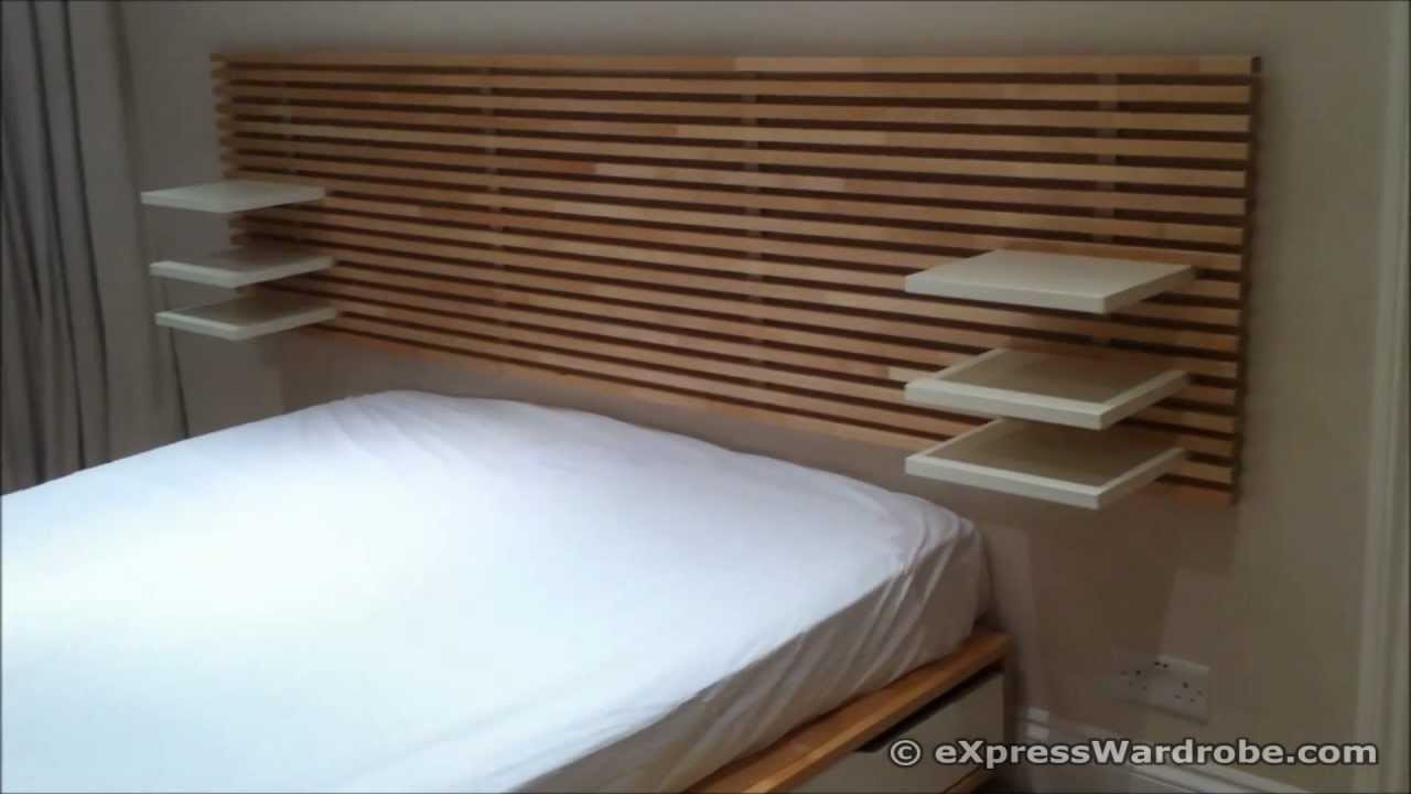 Ikea Mandal Nachfolger Ikea Mandal Storage Bed With Headboard - Youtube