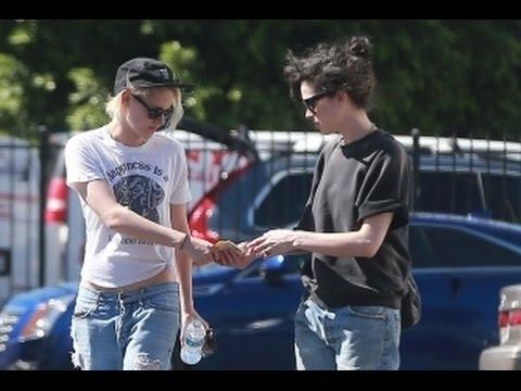 Kristen Stewart and St Vincent leaving a medical building
