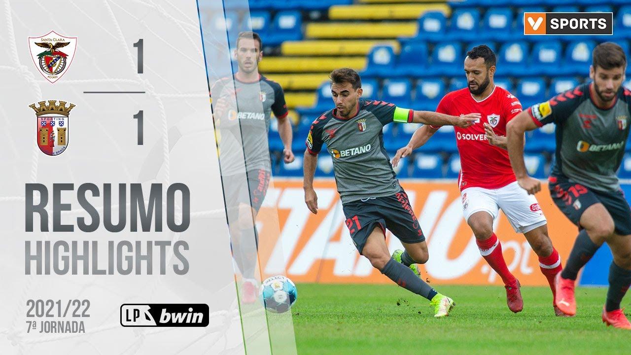 Download Highlights   Resumo: Santa Clara 1-1 SC Braga (Liga 21/22 #7)