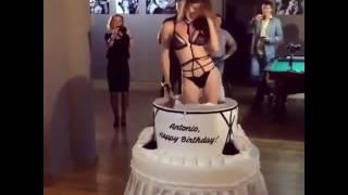 Девушка из торта Happy birthday!