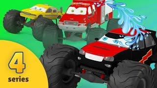 Fire Brigade & Monster Truck Race   EPISODE FOUR   Monster Truck Adventures & Rescue City Heroes