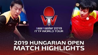 Lin Gaoyuan vs Xu Xin | 2019 ITTF World Tour Hungarian Open Highlights (1/2)