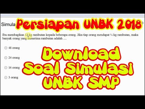 Latihan Simulasi Soal UNBK SMP - Persiapan UNBK 2018 & Pembahasan Soal Matematika