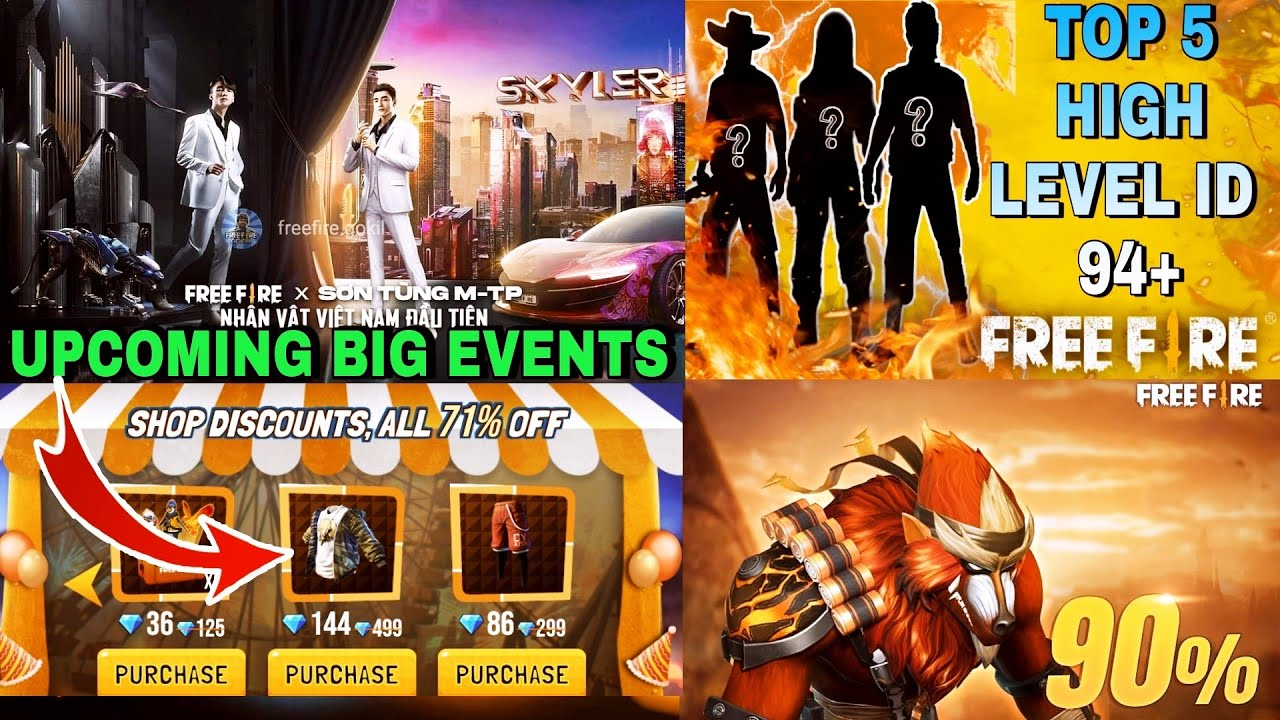 Upcoming Events:- High Level ID Full Review // All Items 71% Shop Discount // Store Gaming