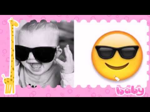 Cute funny babies pictures with emoticons 2015