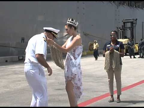 Sailors aboard USS Emory S. Land welcomed home