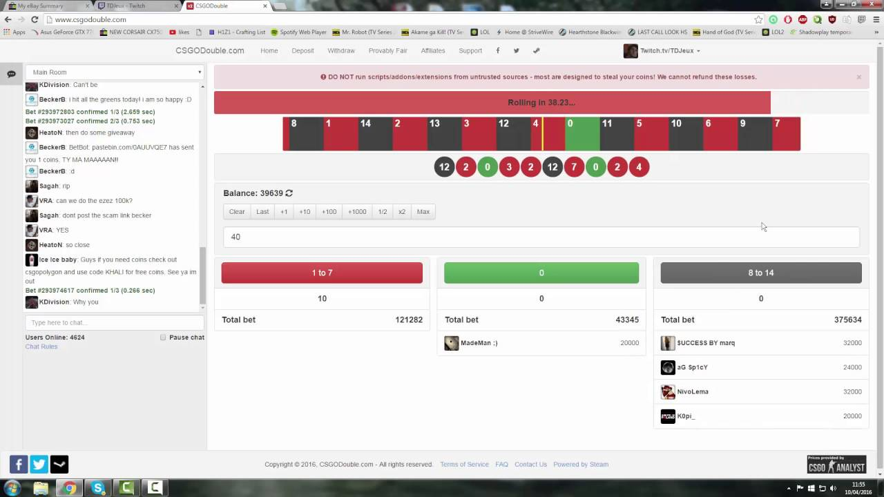 Betting csgodouble how to bet on boxing fights online
