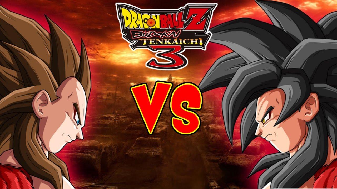 Dragon Ball Z Budokai Tenkaichi 3 Goku Super Saiyajin 4 Vs