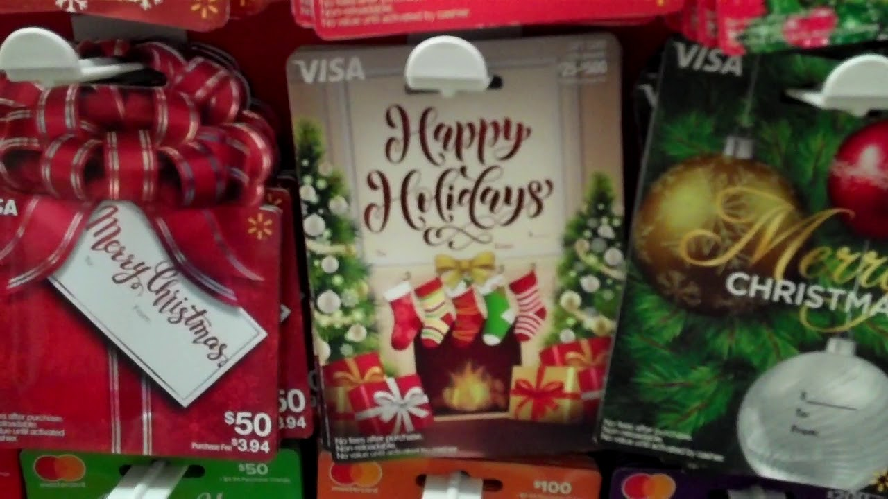 Christmas Gift Cards At Walmart 2017 Part 3 Youtube