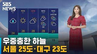 [날씨] 우중충한 하늘…서울 25도 · 대구 23도 '…