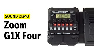 Zoom G1X Four - Sound Demo (no talking)