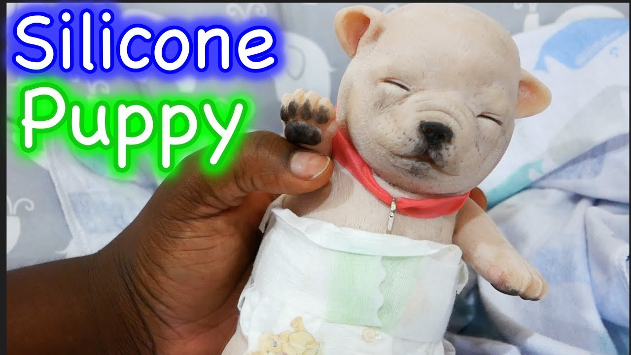Silicone Baby Puppy Box Opening Mini Silicone Baby Pug