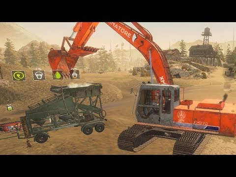 Gold Rush The Game - Excavator + Wash Plant Setup! Gameplay 4K