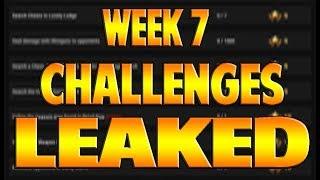 Fortnite - WEEK 7 CHALLENGES LEAKED