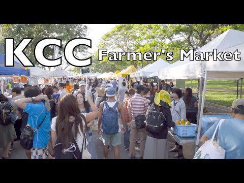 Kapi'olani Community College KCC Farmers Market Walk Through Tour | Oahu, Hawaii | 4k