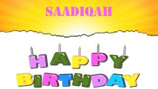 Saadiqah   Wishes & Mensajes - Happy Birthday