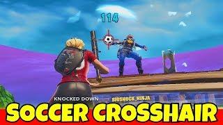 i used a SOCCER SKIN CUSTOM CROSSHAIR in fortnite.... (cheating?)