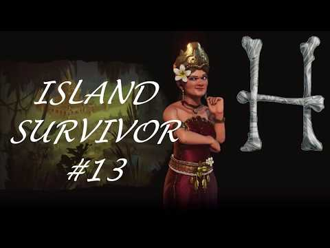 Civilization 6: #13 Two More Capitals Down - Island Survivor - Indonesia Gameplay