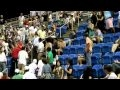 2010 US Open Tennis - Young Man Pushes Old Man Over Seats