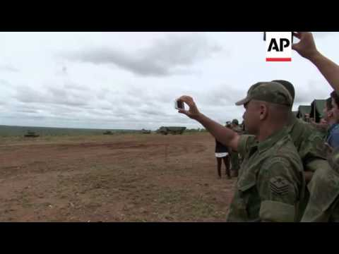 Two-thousand Brazilian Marine troops take part in military training drills